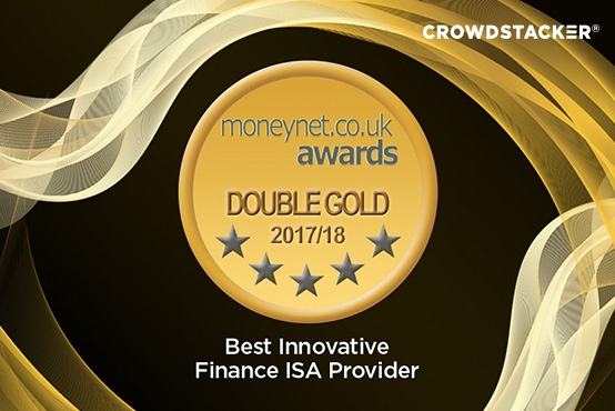 Voted Best IFISA Provider 2018 in the Moneynet Awards - Crowdstacker Innovative Finance ISA