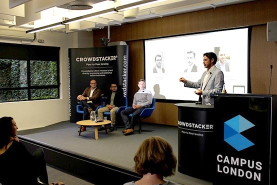The Crowdstacker team at Google Campus London for a talk about the Crowdstacker journey