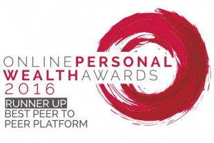 Crowdstacker - win the Runner Up award in the Online Personal Wealth Awards for Best Peer to Peer Platform